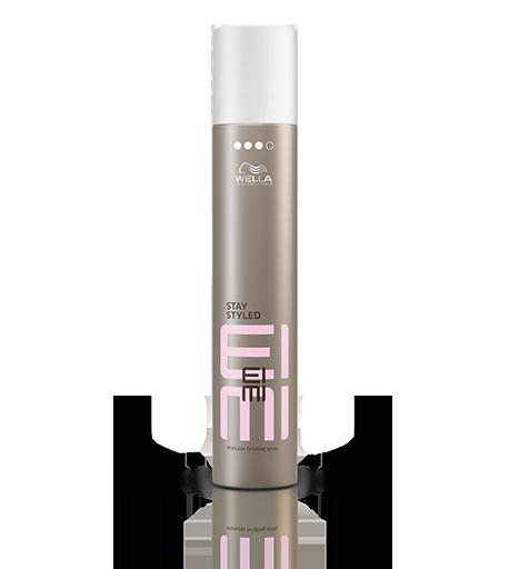 WELLA Лак для волос сильной фиксации / EIMI 500млЛаки<br>Сохраните на весь день идеальную форму укладки с помощью лака для волос экстрасильной фиксации Wella EIMI Stay Styled. Помогает защитить волосы от влажности, UV-лучей и воздействия высоких температур. Wella EIMI Лаки для волос - новый цветочный аромат: ноты магнолии и средиземноморских цитрусов - Новая технология сухого распыления (для аэрозольных лаков) Лаки EIMI обеспечивают защиту от ультрафиолетовых лучей, высоких температур и влажности. Сегодня лаки для волос используются не только для фиксации укладки, но и для создания самой укладки. Способ применения: равномерно распылить на волосы, держа флакон на расстоянии вытянутой руки.<br><br>Объем: 500 мл