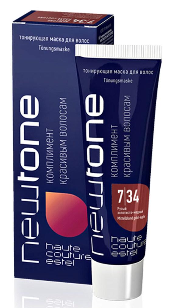 Купить ESTEL HAUTE COUTURE 7/34 маска тонирующая для волос, русый золотисто-медный / NEWTONE 60 мл