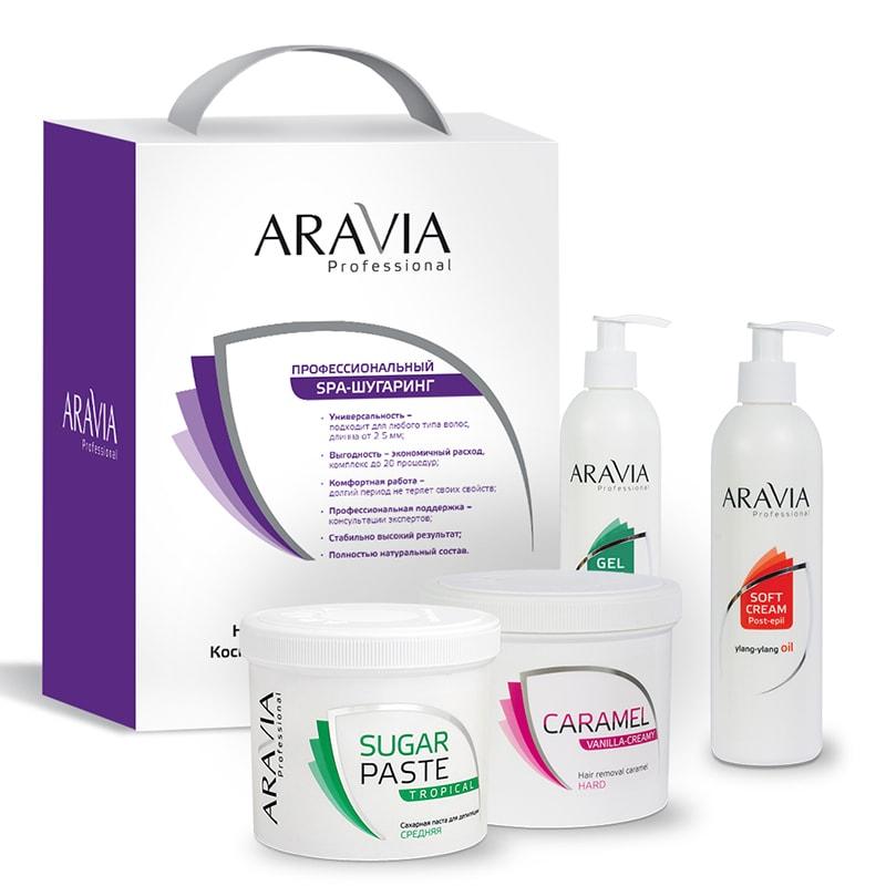 ARAVIA Набор 3+1 №2 Промо для депиляции (сахарная паста 750 мл, карамель 750 мл, гель 300 мл, подарок: сливки 300 мл) / Professional протеин fuze сreatine сливочная карамель 750 г