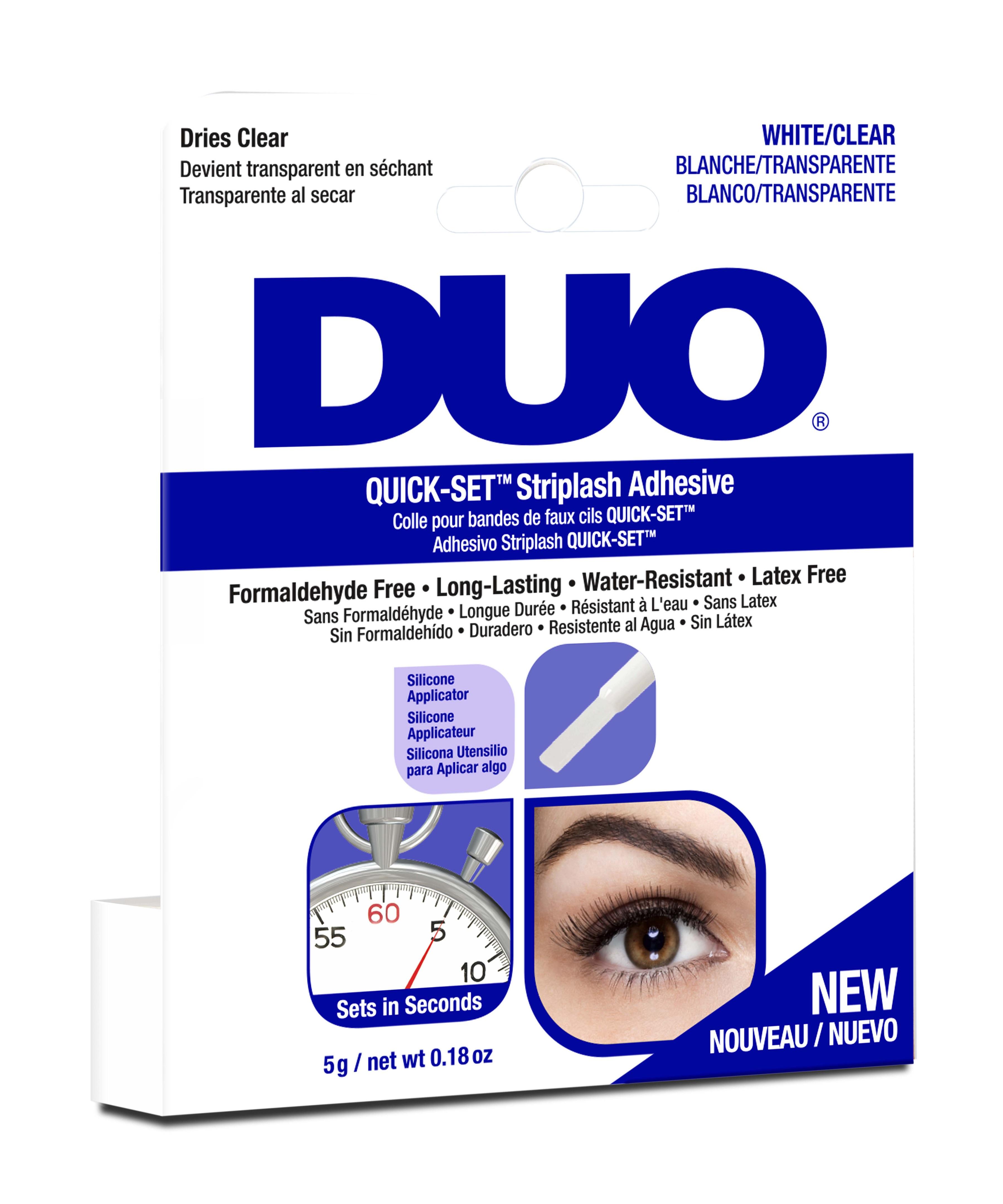 DUO Клей для накладных ресниц, быстрая фиксация, прозрачный / Duo quick-set Striplash Adhesive Clear 5 г