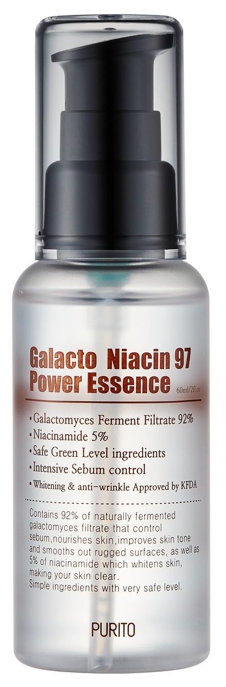 PURITO Эссенция активная обновляющая с ниацинамидом / Galacto Niacin 97 Power Essence 60 мл  - Купить