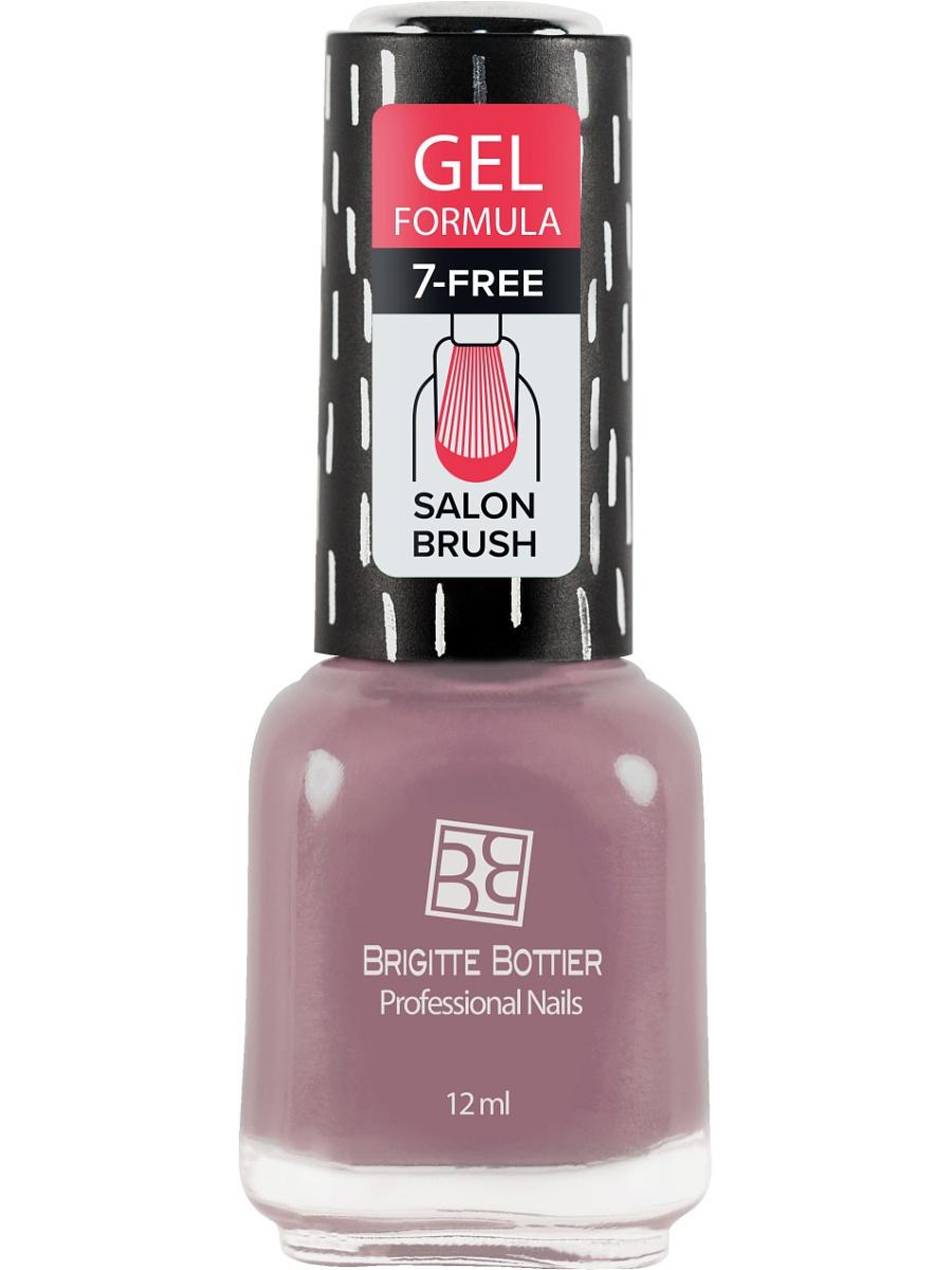 BRIGITTE BOTTIER 76 лак для ногтей гелевый & Розовато-лилово-серый&  / GEL FORMULA 12мл -  Лаки