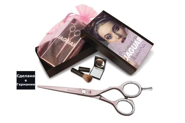 JAGUAR Ножницы Amira 5.5 прям.розовый Silver Line+кист.,зеркало