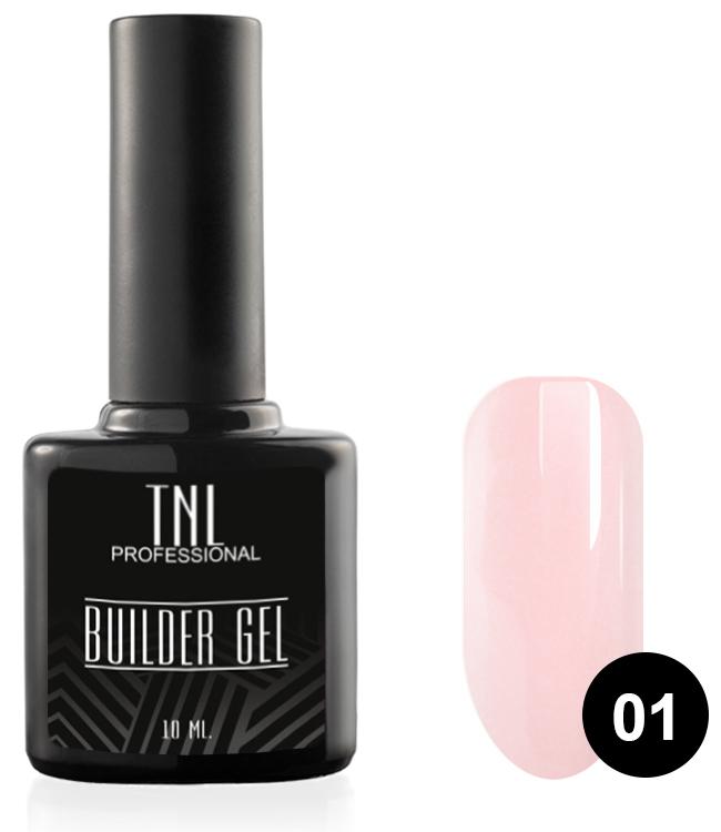 TNL PROFESSIONAL Гель моделирующий камуфлирующий для ногтей, 01 молочно-розовый / Builder Gel 10 мл