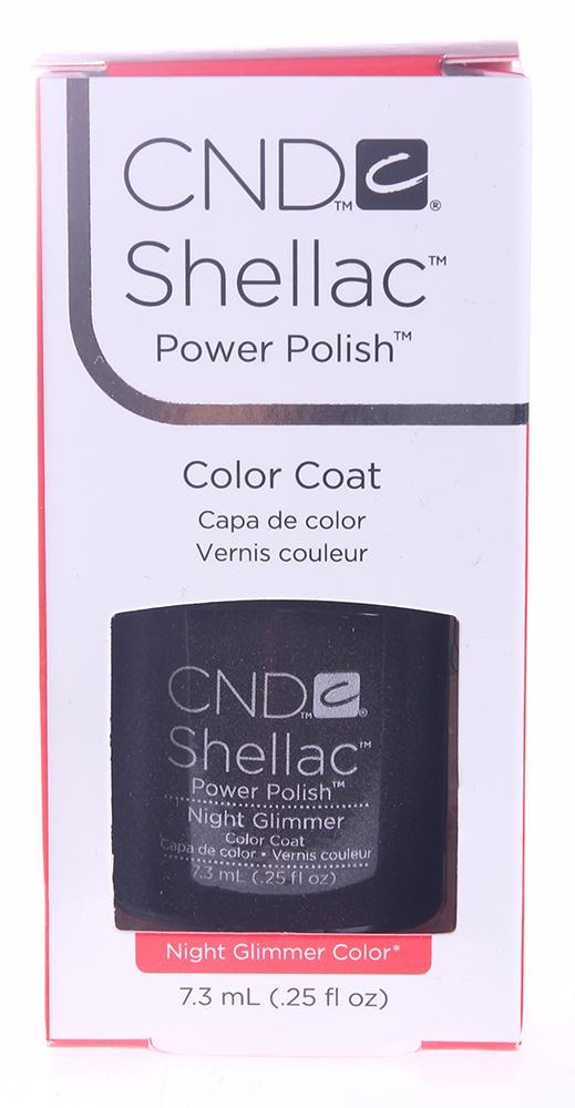 CND 057A покрытие гелевое Night Glimmer / SHELLAC 7,3млГель-лаки<br>Shellac &amp;ndash; первый гибрид лака и геля, сочетающий в себе самые лучшие свойства профессиональных лаков для ногтей (простота наложения, яркий блеск, богатство цвета) и современных моделирующих гелей (отсутствие запаха, носибельность, нестираемость).   Носится как гель, выглядит как лак, снимается за считанные минуты, укрепляет и защищает ногти, гипоаллергенный, создан по формуле 3 FREE, не содержит дибутилфталата, толуола, формальдегида и его смол   все это Shellac!   Преимущества: 14 дней   время носки маникюра 2 минуты   время высыхания покрытия Зеркальный блеск и идеальная гладкость маникюра Не скалывается, не смазывается, не трескается Каждое покрытие представлено в непрозрачном флаконе, цвет которого абсолютно идентичен оттенку самого продукта. Флакон не скользит в руке, что делает процедуру невероятно легкой и приятной, а удобная кисточка позволяет нанести средство идеально ровно. Пошаговая инструкция.<br><br>Цвет: Коричневые<br>Виды лака: С блестками