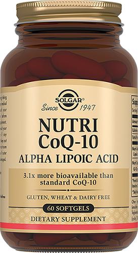 Solgar нутрикоэнзим q-10 с альфа-липоевой кислотой, капсулы №