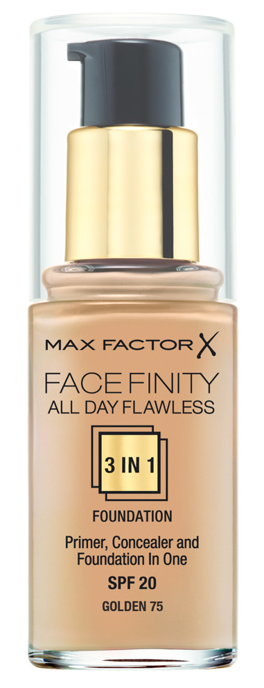 Купить MAX FACTOR Основа тональная 75 / Facefinity All Day Flawless 3-in-1 golden