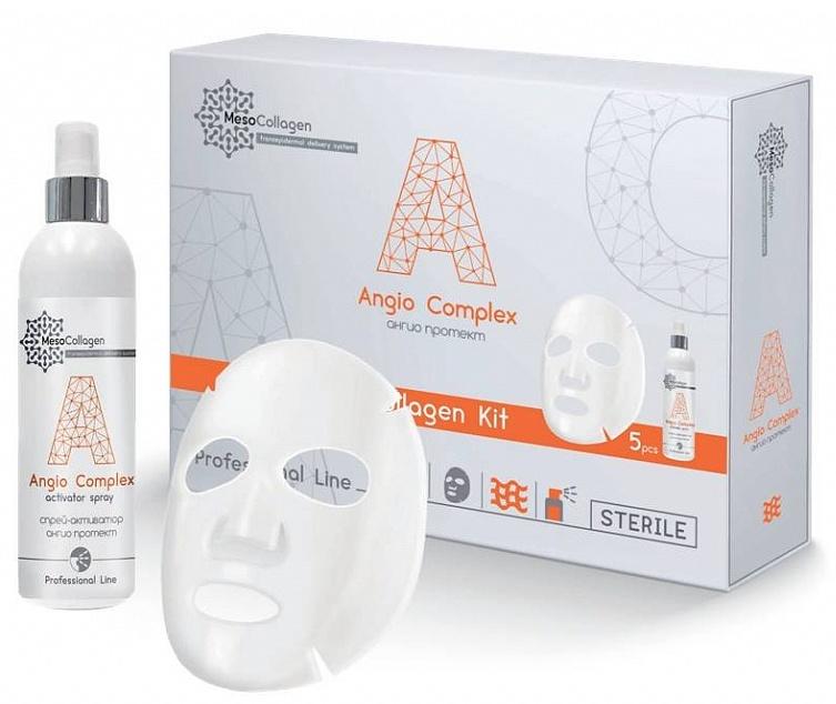 MEDICAL COLLAGENE 3D Набор Ангио протект (аппликаторы для лица 5 шт и спрей 150 мл) / Angio Complex MesoCollagen