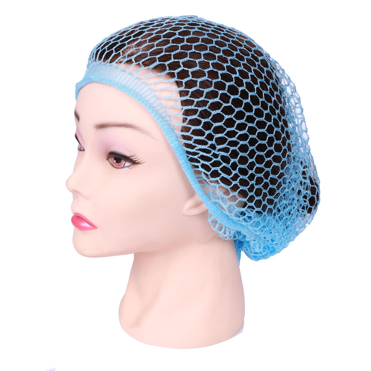 SIBEL Сеточка-косынка для бигуди крупная голубая, Sibel