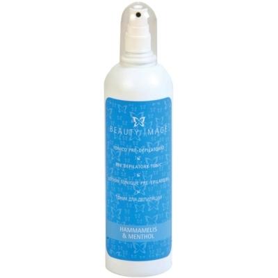 BEAUTY IMAGE Тоник преддепиляционный 250млТоники<br>Тоник подготавливает кожу перед проведением процедуры эпиляции, удаляет остатки косметики, очищает и обеззараживает кожу.  Применение: Нанесите на кожу тоник с помощью ватного диска или спрея, протрите кожу ватными дисками, высушите бумажными салфетками.<br><br>Объем: 250