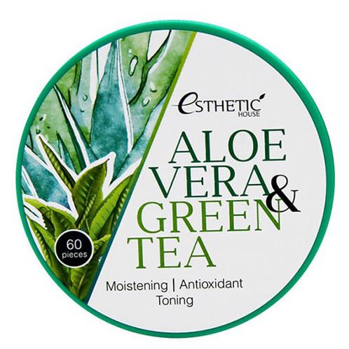 Купить ESTHETIC HOUSE Патчи гидрогелевые с экстрактом алоэ вера и зеленого чая / ALOE VERA & GREEN TEA HYDROGEL EYE PATCH 60 шт