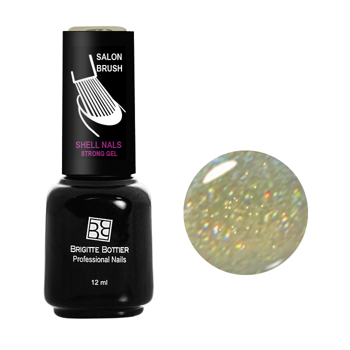 BRIGITTE BOTTIER 987 гель-лак для ногтей, бронзовый с мелкими блестками / Shell Nails 12 мл