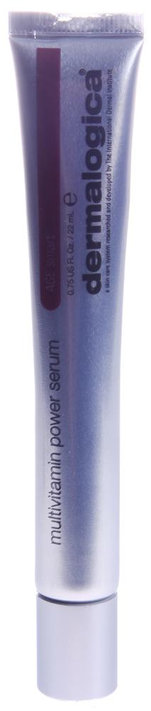 DERMALOGICA Серум мультивитаминный / MV Power Serum AGE SMART 22млСыворотки<br>Микроинкапсулированный витаминный комплекс для мощного восстановления кожи. Технология подобной доставки - в микроинкапсулированном виде - позволяет витаминам А, С, Е проникнуть наиболее глубоко в поврежденные слои кожи, уменьшая проявление морщинок (тонких линий) и гиперпигментации, стимулируя при этом продукцию коллагена и замедляя процесс фотостарения кожи (вызванный повреждающим действием солнечных лучей). Повышает эластичность кожи, благодаря пептиду белка, замедляющему биохимические процессы, отвечающие за старение кожи. Продукт изготовлен без использования искусственных красителей и отдушек. Инновационная технология микроинкапсуляции витаминов позволяет усилить защиту. Стимулирует синтез коллагена в коже, уменьшая проявление тонких линий и морщин. Обеспечивает антиоксидантную защиту. Контролирует равномерность пигментации. Способ применения: витамины А, С, аскорбилфосфат Магния, витамин F, гидроксипинаколонретиноат (HPR), пальмитоил гегсапептид-14. Способ применения: после очищения и тонизации кожи, нанесите MultiVitamin Power Serum на кожу лица и шеи. Используйте продукт утром и вечером до использования увлажнителя (крема).<br>
