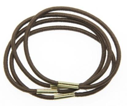 DEWAL BEAUTY Резинки для волос midi коричневые 8 шт
