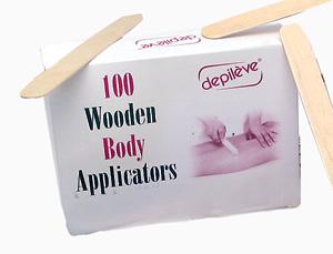DEPILEVE Шпатели для тела 100 шт depileve горячий воск хлорофилловый depileve traditional chlorophyl wax 1205008 500 г