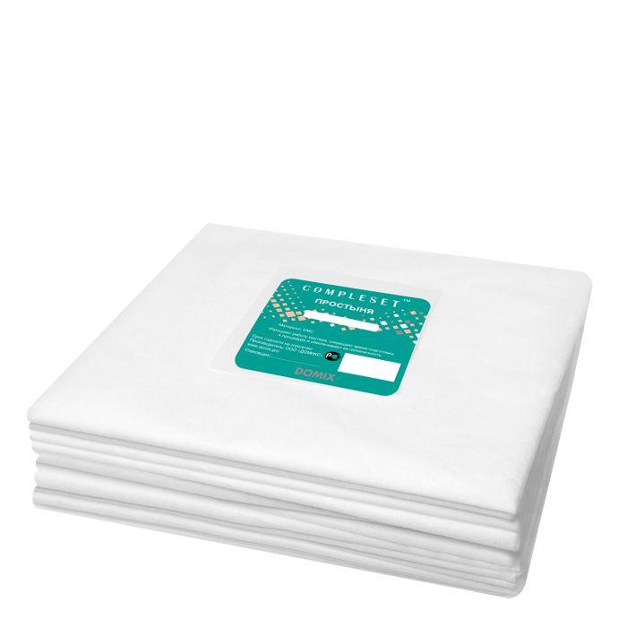 Купить DOMIX Простыня в сложении SMS 15 80*200 см белая Эконом 50 шт/уп