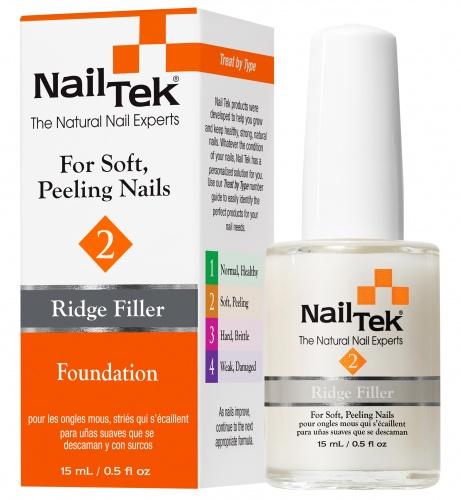 NAIL TEK Покрытие базовое выравнивающее для мягких, слоящихся ногтей / FOUNDATION 2 15млБазовые покрытия<br>Nail Tek Foundation 2 представляет собой особую смесь упрочнителей, кондиционеров, микроволокон и природных наполнителей, которая укрепляет и восстанавливает поврежденную структуру ногтя. Благодаря густой, сливочной консистенции покрытие сглаживает неровности поверхности ногтя и способствует росту здоровых, красивых ногтей. Результат: ровные, здоровые, красивые ногти. Активные ингредиенты: особая смесь упрочнителей, кондиционеров, микроволокон и природных наполнителей. Способ применения: 1. Придайте ногтям желаемую форму. 2. Нанесите NailTek FOUNDATION 2 - базовое выравнивающее покрытие для мягких, слоящихся ногтей. 3. Нанесите 2 слоя лака для ногтей. Рекомендуется для усиления результата нанести поверх верхнее покрытие NailTek THERAPY 2 - укрепитель и усилитель роста для мягких, слоящихся ногтей . Далее каждый день наносите новый слой NailTek THERAPY 2 в качестве верхнего покрытия. Через неделю снимите все покрытия жидкостью без ацетона и повторите процедуру (недельный цикл). Период применения: смена покрытия каждые 7 дней, длительность курса   8 недель.<br><br>Объем: 15 мл