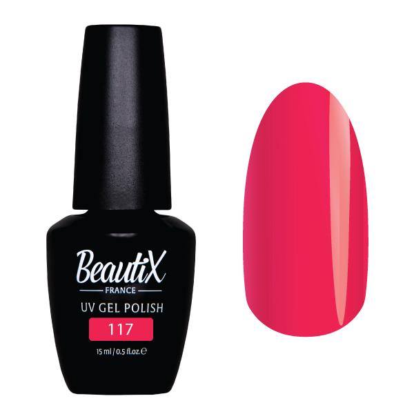 Купить BEAUTIX 117 гель-лак для ногтей 15 мл, Розовые