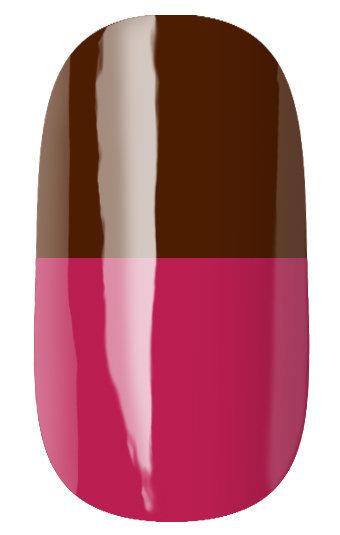 RuNail Гель-лак термо, коричневый - темно-розовый / Thermo 7 мл runail дизайн для ногтей ракушки 0284