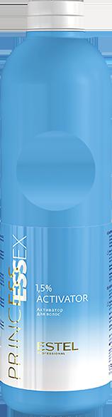 ESTEL PROFESSIONAL Активатор 1.5% Essex Princess 1000млОкислители<br>Активаторы PRINCESS ESSEX 1,5% применяются с крем-красками PRINCESS ESSEX для интенсивного и пастельного тонирования. При смешивании образуют удобную для нанесения кремообразную консистенцию, которая оказывает щадящее воздействие на волосы. Способ применения: только для профессионального применения.<br><br>Объем: 1000 мл<br>Вид средства для волос: Щадящая<br>Класс косметики: Профессиональная