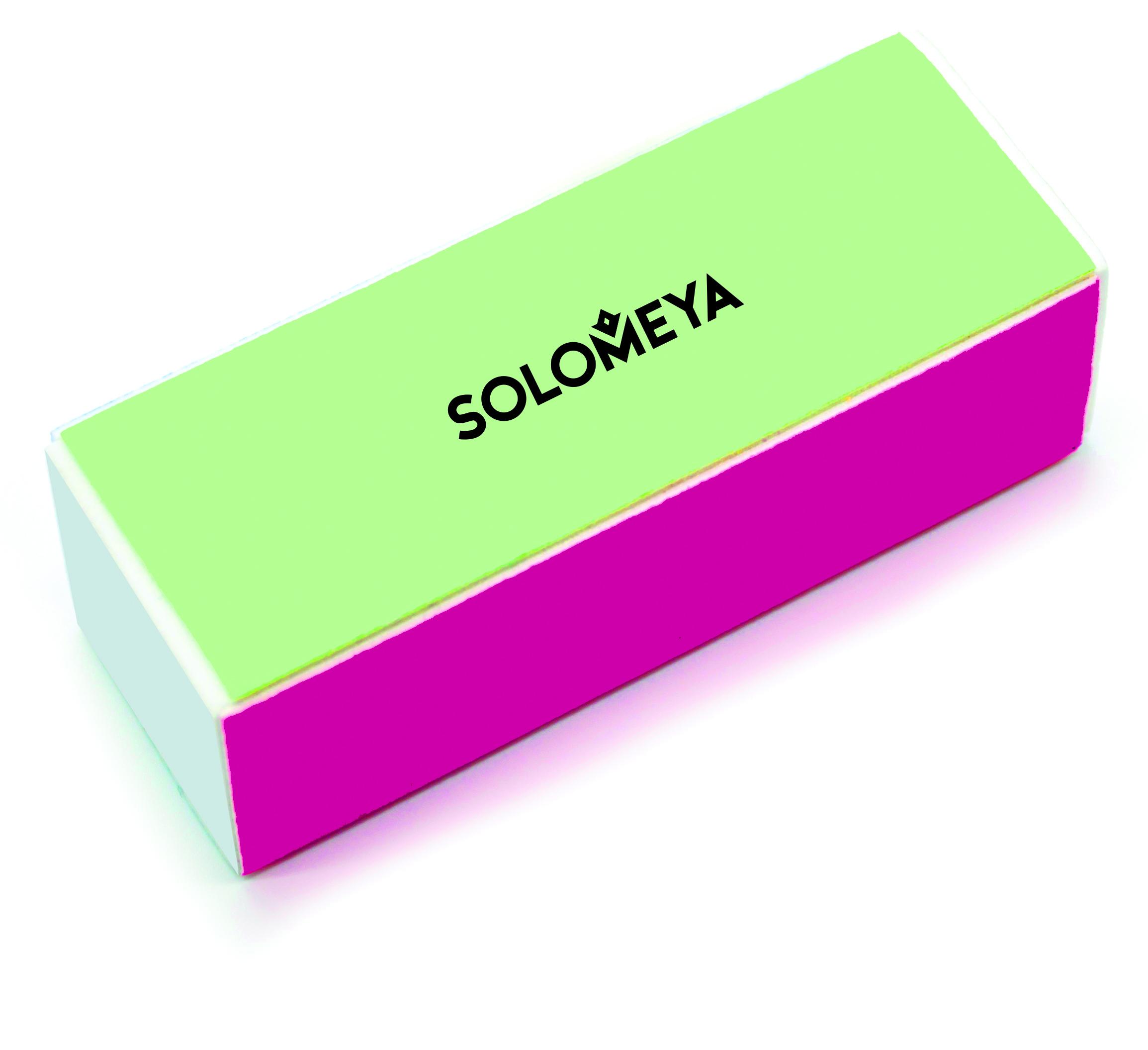 SOLOMEYA Блок-полировщик 4-х сторонний для ногтей / 4 WAY BLOCK BUFFER