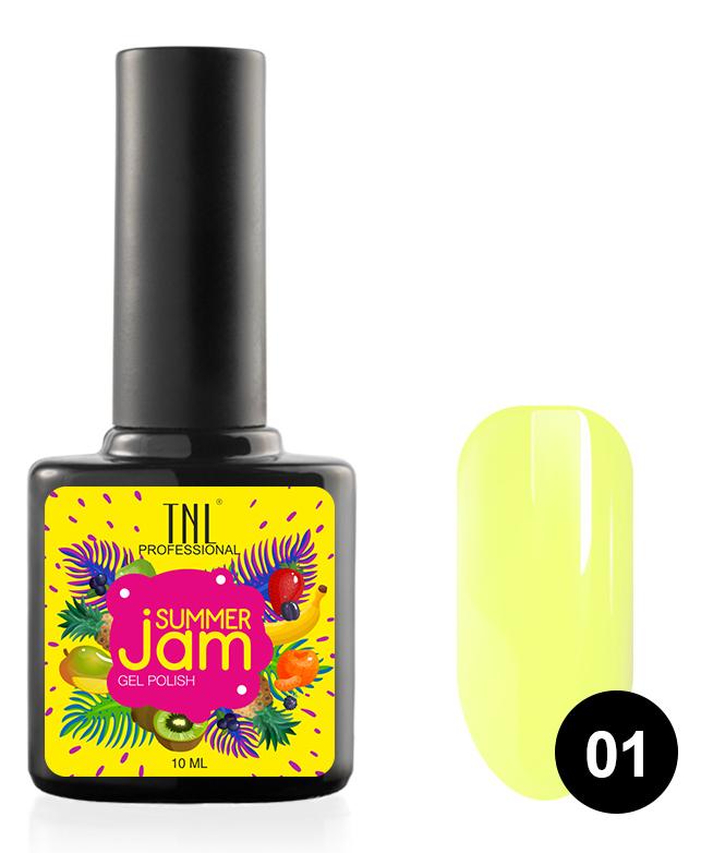 Купить TNL PROFESSIONAL 01 гель-лак для ногтей, светло-желтый / Summer Jam 10 мл, Желтые