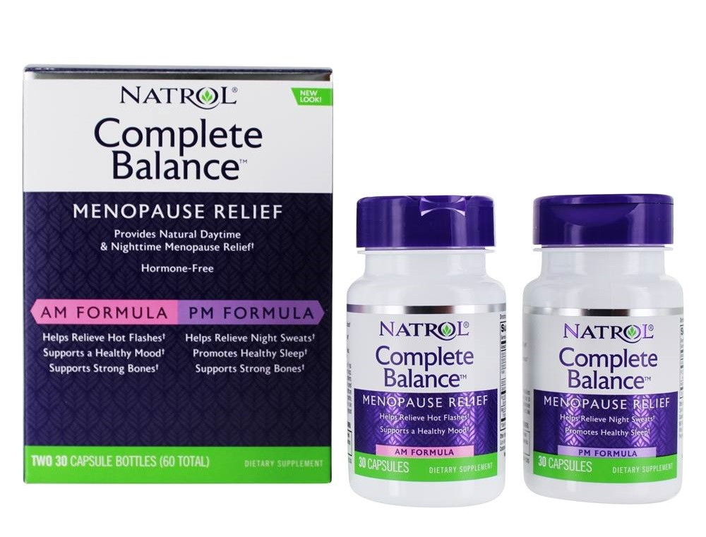 Купить NATROL Добавка биологически активная к пище Комплит баланс фор менопауз AP/PM / Complete Balance for menopause AM&PM formula 60 капсул