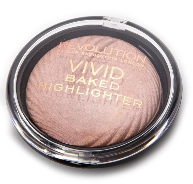 MAKEUP REVOLUTION Хайлайтер для лица / VIVID BAKED HIGHLIGHTERS Peach Lights