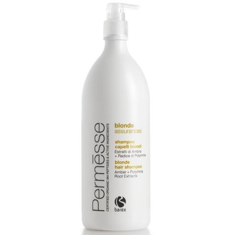 BAREX Шампунь для осветленных волос с экстрактом янтаря и корня полимнии / PERMESSE 1000мл