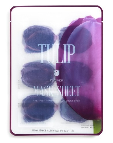 KOCOSTAR Маска-слайс тюльпан для лица / TULIP FLOWER MASK SHEET 20 мл тканевые маски и патчи kocostar маска слайс для лица алоэ вера 20мл