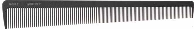 DEWAL PROFESSIONAL Расческа рабочая комбинированная, микрофибра с силиконом (серая) 20cм