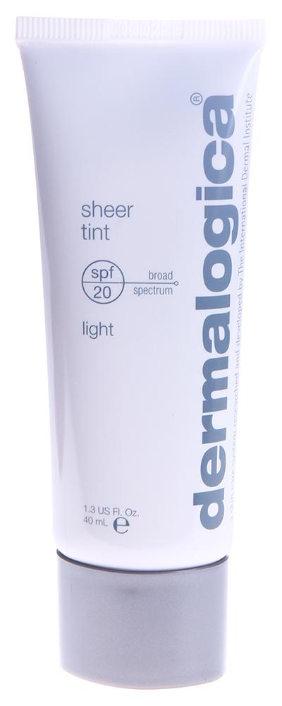 DERMALOGICA Крем тонирующий увлажняющий Светлый тон SPF20 / Sheer Tint Light 40млКремы<br>Увлажняющий тонирующий крем SPF20 Светлый тон Sheer Tint Light - новое средство от американского бренда по уходу за кожей Dermalogica. Тонирующий увлажняющий крем Sheer Tint универсален, так как сочетает в себе функции тонального и увлажняющего крема. Обеспечивает лёгкий тонирующий эффект, равномерный тон лица, защиту от ультрафиолетовых лучей и свободных радикалов, которые провоцируют преждевременное старение. Наряду с этими достоинствами крем обладает увлажняющим действием, способствуя производству коллагена для повышения упругости кожи. Активные ингредиенты: гиалуроновая кислота с поперечными сшивками.&amp;nbsp; Способ применения: тональный крем наносится на подготовленную кожу: очищенную, тонированную, увлажненную.<br><br>Объем: 40 мл<br>Вид средства для лица: Увлажняющий