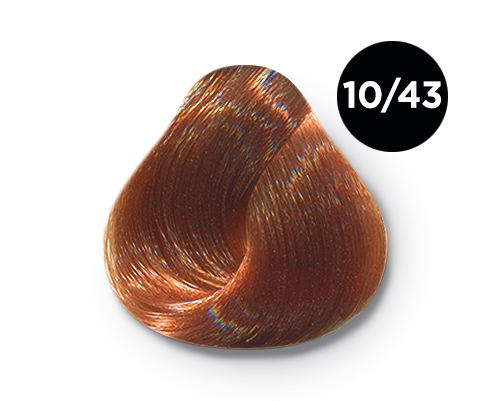 OLLIN PROFESSIONAL 10/43 краска для волос, светлый блондин медно-золотистый / OLLIN COLOR 60 мл