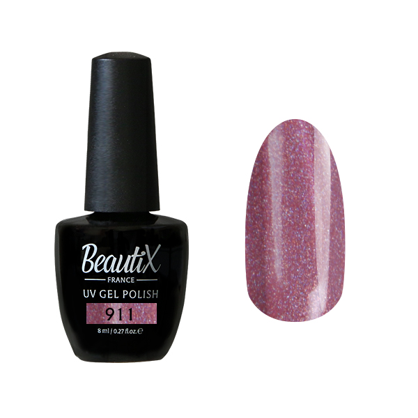 Купить BEAUTIX 911 гель-лак для ногтей 8 мл, Розовые