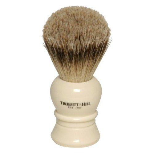 TRUEFITT HILL Кисть для бритья (Ворс серебристого барсука/Слоновая кость с серебром) Regency 1шт