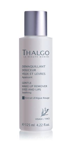 THALGO Мягкое средство для снятия макияжа с глаз и губ / Make up Remover Eye and Lips 125млМолочко<br>Для женщин, которые желают эффективно и нежно очистить кожу вокруг глаз и снять макияжа с глаз и губ. Лосьон также можно использовать женщинам, которые носят линзы. Оказывает мягкое очищение и эффективный уход кожи вокруг глаз и губ. Снимает следы усталости, мгновенно успокаивает чувствительную кожу вокруг глаз, защищает ее от преждевременного старения. Контуры глаз и губ очищены одним движением! Средство оказывает смягчающий, увлажняющий и освежающий эффекты. Контур глаз и губ становится более четким, глаза излучают сияние! Активные ингредиенты: экстракт василька, зеленый чай, экстракт водоросли Гелима (красная водоросль). Способ применения: снять макияж вокруг глаз и губ при помощи ватного диска, удалить остатки водой.<br><br>Пол: Женский<br>Типы кожи: Чувствительная