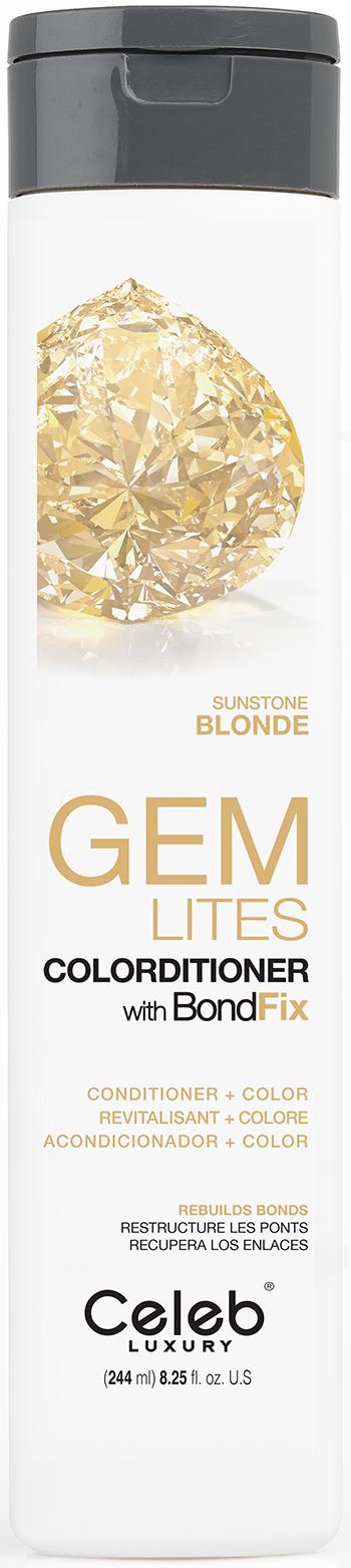 CELEB LUXURY Кондиционер тонирующий корректирующий цвет, солнечный бриллиант / Gem Lites Sunstone Colorditioner 244 мл