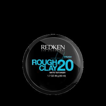 REDKEN Глина текстурирующая пластичная с матовым эффектом Раф Клэй 20 50млГлины<br>Redken Rough Clay 20 - Пластичная текстурирующая глина с матовым эффектом - создана для самых ярких и смелых укладок и образов! Она обладает сильной фиксацией и матовым эффектом после использования. Глина великолепно подчеркивает пряди, что делает ее незаменимым помощником при создании  взъерошенных  и  рваных  причесок. Эксклюзивная технология Bonding System добавит желаемые объем и плотность. Протеины, а также природные масла не только деликатно ухаживают, но и положительно влияют на текстуру волос, защищают от стрессовых факторов (ультрафиолета и других агрессоров) внешней среды. Средство очень просто в использовании и быстро нейтрализуется шампунем без пересушивания. Его эффект длится весь день!&amp;nbsp; Применение: Нанесите Rough Clay 20 на сухие волосы. Дождитесь высыхания и параллельно задавайте форму прическе. Если Вам нужен более сильный результат - повторите процедуру.<br><br>Объем: 50<br>Вид средства для волос: Текстурирующая<br>Типы волос: Сухие