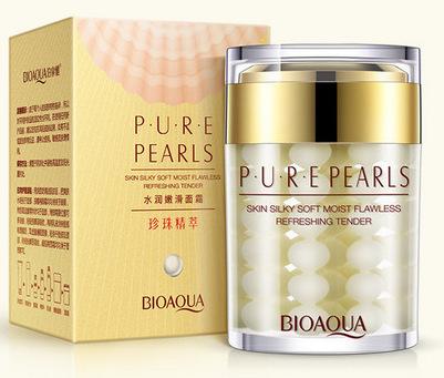 BIOAQUA Крем увлажняющий с натуральной жемчужной пудрой / Pure Pearls 60 г  - Купить