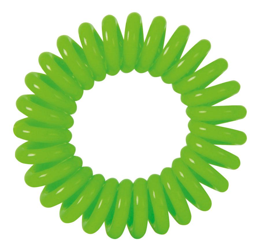 DEWAL BEAUTY Резинки для волос Пружинка, цвет зеленый 3 шт