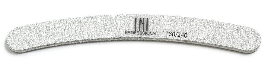 Пилка бумеранг для ногтей 180/240, серая (в индивидуальной упаковке)