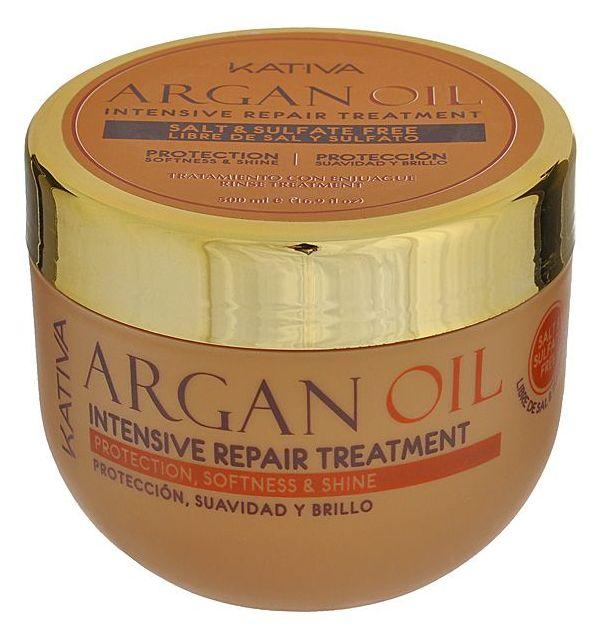 KATIVA Уход интенсивный восстанавливающий увлажняющий с маслом арганы для волос / ARGANA 500 мл  - Купить