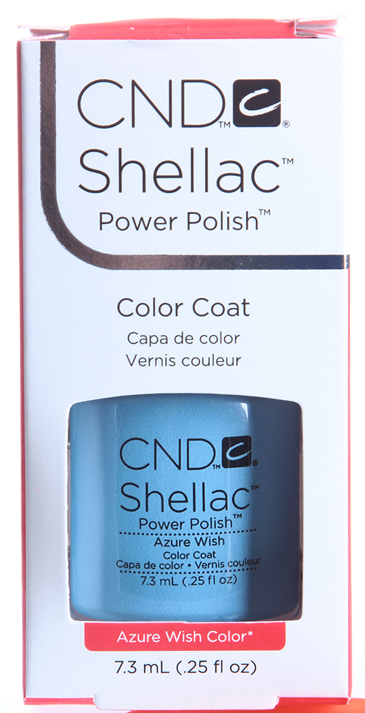 CND 055 покрытие гелевое Azure Wish / SHELLAC 7,3мл cnd 083 покрытие гелевое bare chemise shellac 7 3мл