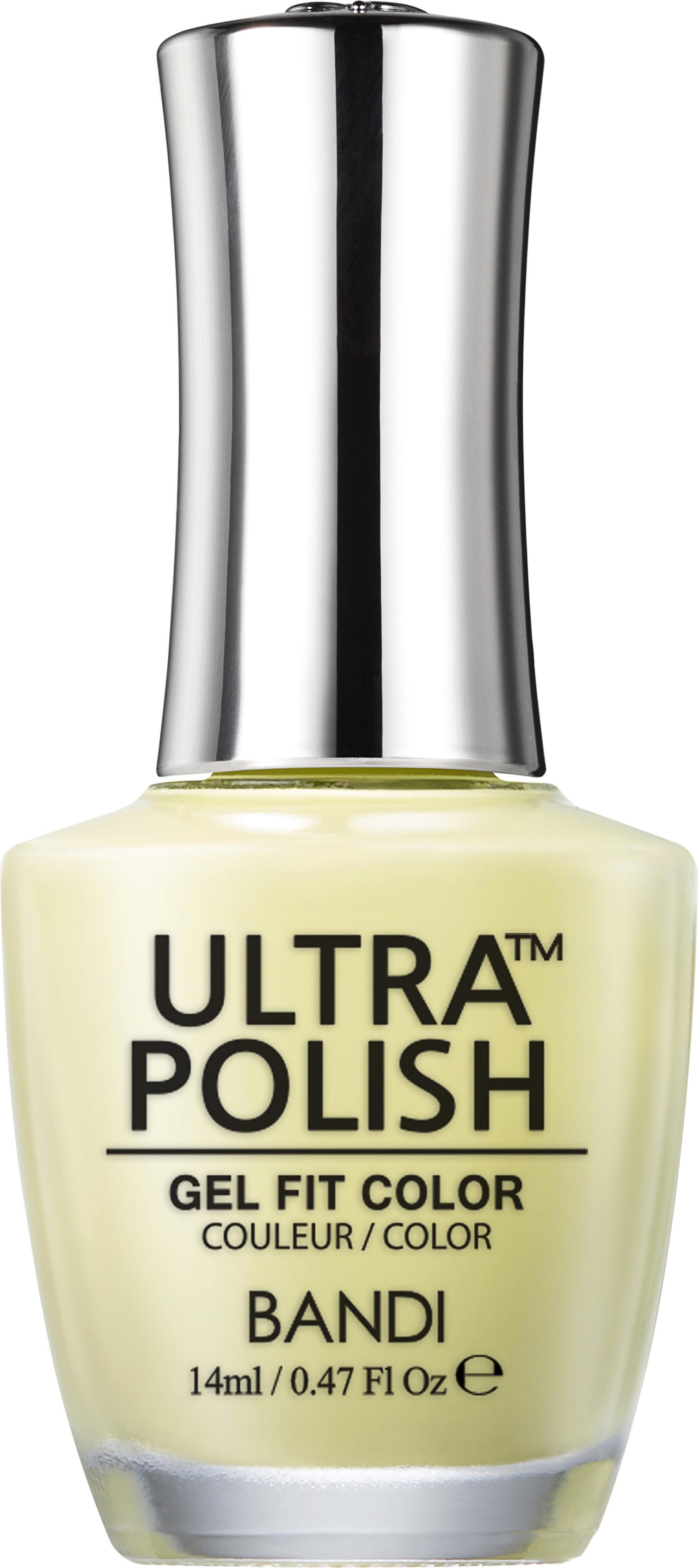 Купить BANDI UP601 ультра-покрытие долговременное цветное для ногтей / ULTRA POLISH GEL FIT COLOR 14 мл, Желтые