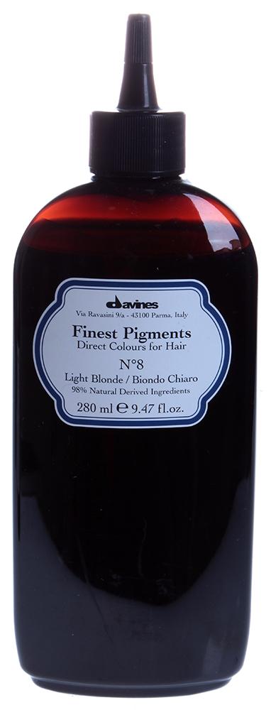DAVINES SPA Краска для волос Прямой пигмент  8 Light Blonde-Светлый блонд / FINEST PIGMENTS 280мл