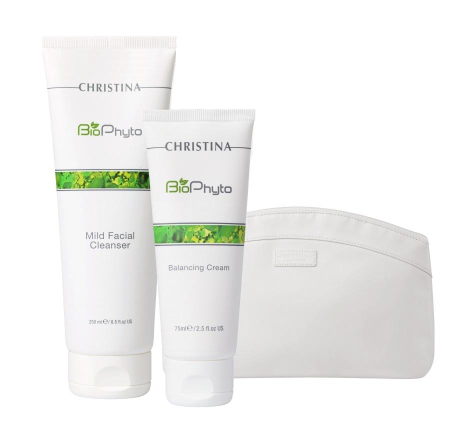 Купить CHRISTINA Набор Балансирующий для лица (крем 75 мл, гель 250 мл) BioPhyto