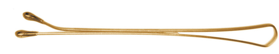 DEWAL PROFESSIONAL Невидимки золотистые, прямые 50 мм, 200 г (в коробке)