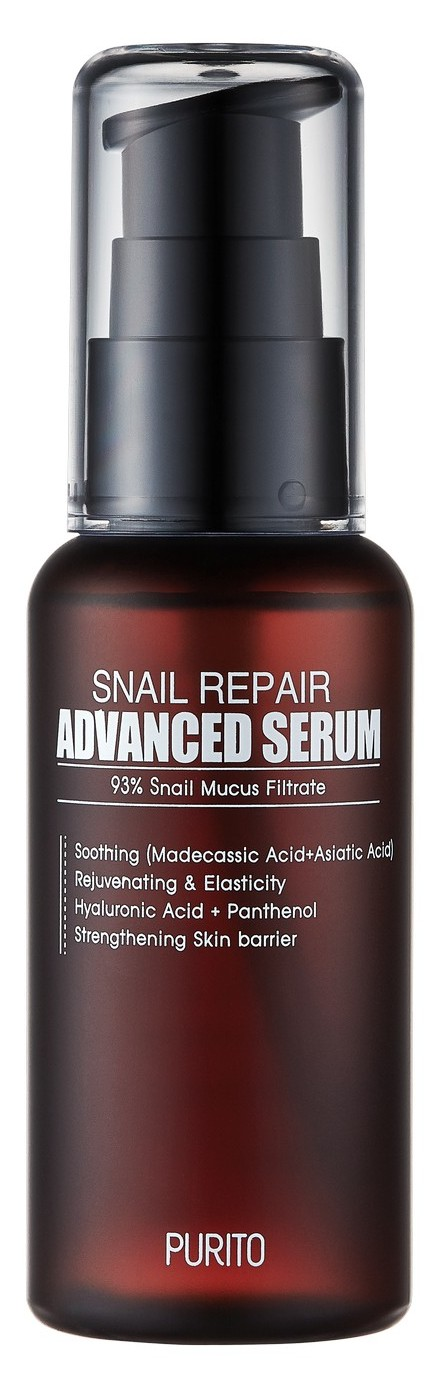 Купить PURITO Сыворотка восстанавливающая с 93% улиточного муцина / Snail Repair Advanced Serum 60 мл