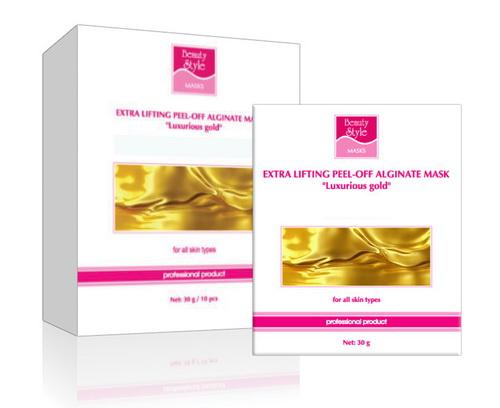BEAUTY STYLE Маска-лифтинг альгинатная моделирующая Роскошное Золото 30грМаски<br>Маска для всех типов кожи с признаками увядания, а также для профилактики возрастных изменений. Действие: Оказывает выраженное лифтинговое действие, способствует интенсивной детоксикации, поддерживает оптимальный уровень увлажнения кожи, восстанавливает защитные функции, замедляет процессы старения кожи. Активные ингредиенты: гидролизат коллагена, диатомовый ил, альгинаты, экстракт гамамелиса, биозолото.<br><br>Объем: 16<br>Вид средства для лица: Альгинатная