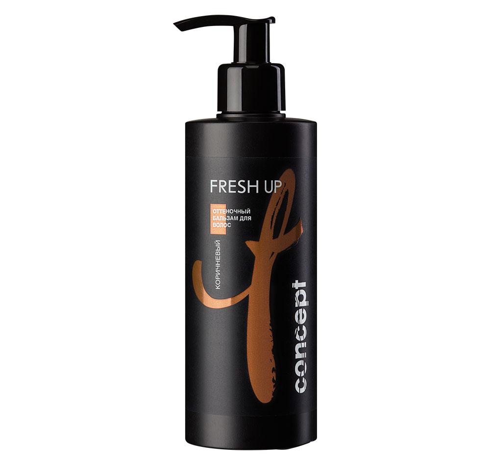 CONCEPT Бальзам оттеночный для коричневых оттенков волос / Fresh Up 250 мл